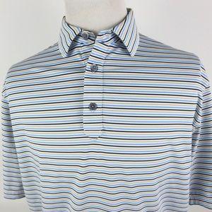 FootJoy Large Golf Polo Shirt Striped Multi Color